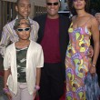 Laurence Fishburne, son Langston, daughter Montana, Gina Torres - Stock Photo