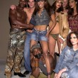 Traci Bingham with models and designer Sylvain Blanc — Stock Photo