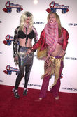 Alexis Arquette and friend Angel — Stock Photo