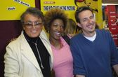 Robert Evans, Yolanda Ross and Jeff Danna — Стоковое фото