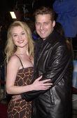 Lauren Woodland and fiance Gary Hecker — Foto de Stock