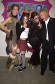Costume contestants with artist Charles Sutphen — Stock Photo