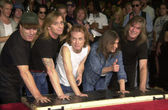 Cliff Williams, Brian Johnson, Angus Young, Malcolm Young — Stock Photo