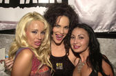 Stacy Burke, Julie Strain and a friend — Stock Photo