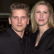 Barry Pepper and wife — Stock Photo
