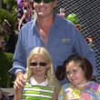 David Hasselhoff with daughter and friend — Zdjęcie stockowe