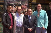Adam Beach, Christian Slater, John Woo and Nicolas Cage — 图库照片