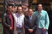 Adam Beach, Christian Slater, John Woo and Nicolas Cage — Stock Photo