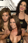 Katherine Thom with Julie Strain with another member of the 97.1 — Stock Photo