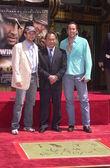 Christian Slater, John Woo and Nicolas Cage — Stock Photo
