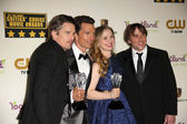 Ethan Hawke, Matthew McConaughey, Julie Delpy and Richard Linklater — Stock Photo