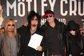 Vince Neil, Nikki Sixx, Tommy Lee, Mick Mars — Stock Photo