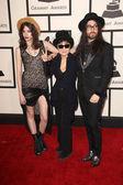 Charlotte Kemp Muhl, Yoko Ono, Sean Lennon — Stock Photo