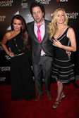 Kyle Richards, Jamie Kennedy and Camille Grammer — Stock Photo