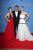Bradley Cooper, Jennifer Lawrence, Amy Adams — Stock Photo