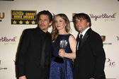 Ethan Hawke, Julie Delpy and Richard Linklater — Stock Photo