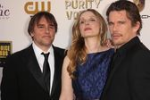 Richard Linklater, Julie Delpy and Ethan Hawke — Stock Photo