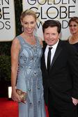 Tracy Pollan, Michael J. Fox — Stock Photo