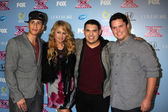 Carlito Olivero, Paulina Rubio, Carlos Guevara  and Tim Olstad — Stock Photo