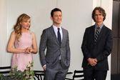 Chloe Grace Moretz, Joseph Gordon-Levitt, Jay Roach — Stock Photo