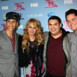 Carlito Olivero, Paulina Rubio, Carlos Guevara and Tim Olstad — Stock Photo #50674525