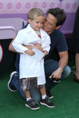 Scott Wolf and son Jackson Kayse Wolf — Photo