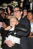 Johnny Knoxville and Jackson Nicoll — Stock Photo