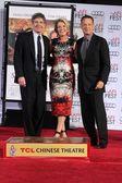 Alan Horn, Emma Thompson and Tom Hanks — Stock Photo