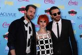 Jeremy Davis, Hayley Williams, Taylor York of Paramore — Stock Photo