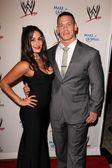 Nikki Bella, John Cena — Stock Photo