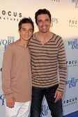 Gilles Marini and son — Stock Photo