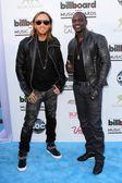 David Guetta and Akon — Stock Photo