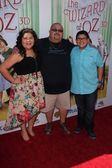 Raini Rodriguez, Rico Rodriguez and father — Stock Photo