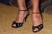 Nancy Travis shoes — Stock Photo