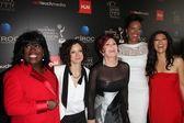 Sheryl Underwood, Sara Gilbert, Sharon Osbourne, Aisha Tyler and Julie Chen — Stock Photo