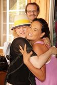 Jennifer Blanc-Biehn, Tia Carrere, Michael Biehc — Stock Photo