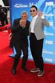 Taylor Hicks and PSY - Pak Jae-San — Stock Photo