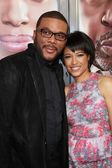 Tyler Perry and Tina Gordon Chism — Stock Photo