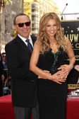 Tommy Mottola and Thalia — Stock Photo