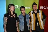 Hannah Aitchison, Pete Wentz and Joe Capobianco — Stock Photo