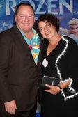John Lasseter, Nancy Lasseter — Stock Photo