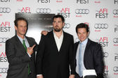 Peter Berg, Marcus Luttrell, Mark Wahlberg — Stock Photo