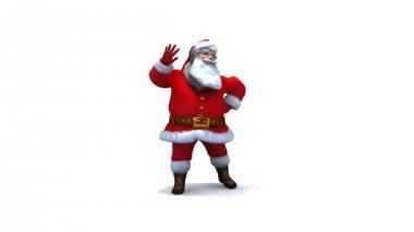 Dancing Santa Version 1 loop — Stock Video