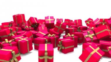 Gift boxes fall — Wideo stockowe