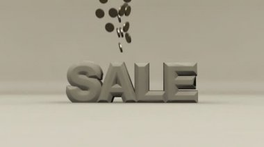 Sale coins crash = sale! — Stock Video