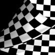 Chequered Flag Page Curl — Stock Video