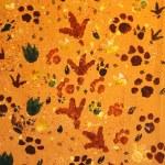 Animal footprint seamless pattern — Stock Photo