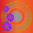 Постер, плакат: Abstract background with rounds vector illustration