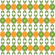 Seamless background from circles of orange and kiwi on white. — Stock Vector #30885821