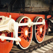 Locomotive wheels. — Stock Photo
